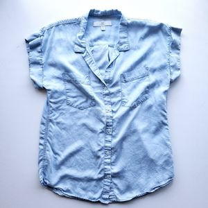THREAD + SUPPLY Chambray Button Down Top M